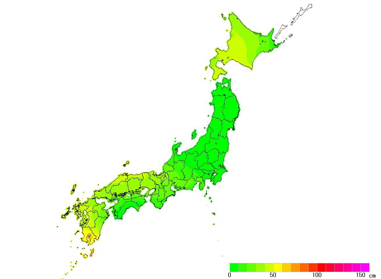 日本全国(沖縄除く)-変動量(水平)_2011