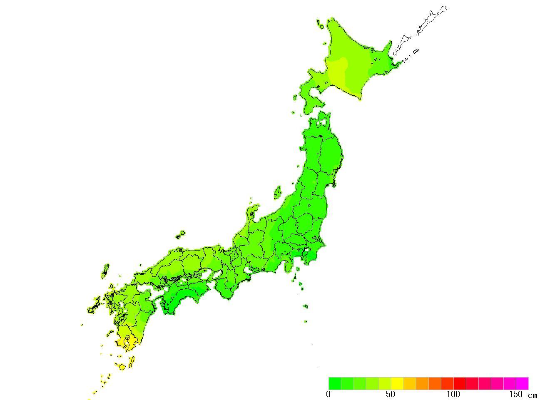 日本全国(沖縄除く)-変動量_水平_2010