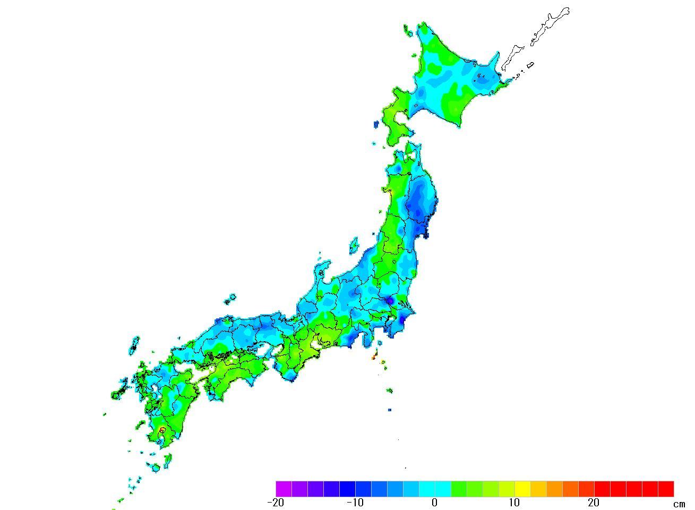 日本全国(沖縄除く)-変動量_高さ_2010