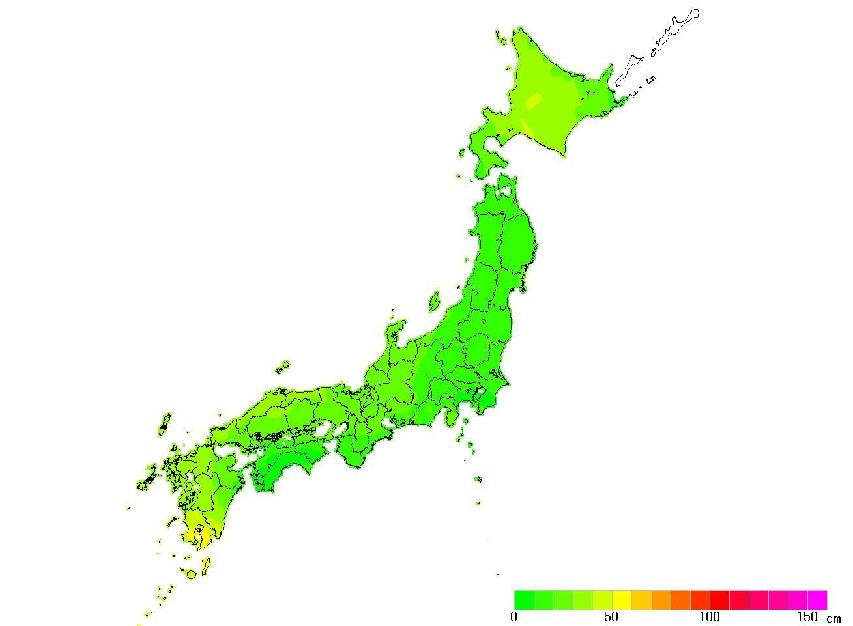 日本全国(沖縄除く)-変動量_水平