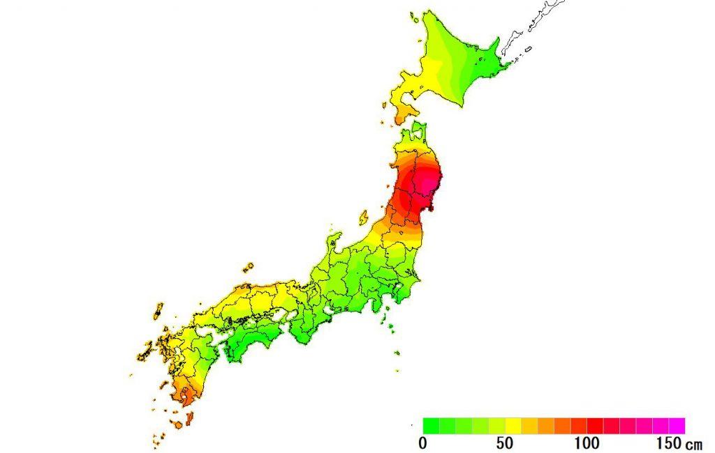 日本全国(沖縄除く)-変動量(水平)_2018