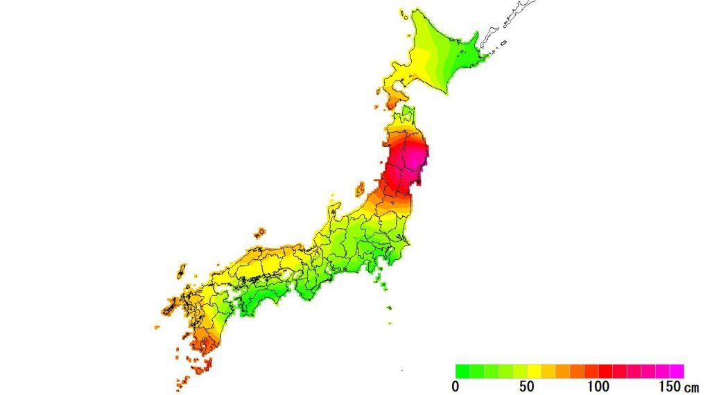 日本全国(沖縄除く)-変動量(水平)_2020